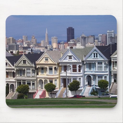Victorian Houses Mouse Mats
