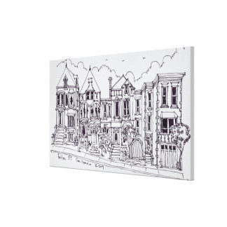 Victorian Houses | San Francisco, California Canvas Print