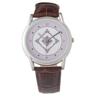 Victorian Inspired Purple Fractal Diamond Design Watch