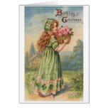 Victorian Irish Girl Birthday Card