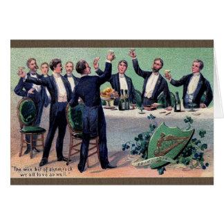 Victorian Irish Toast St Patrick s Day Card