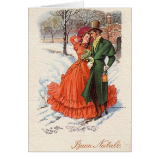 Victorian Italian Christmas Greeting Card