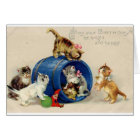 Victorian Kittens Birthday Card