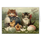 Victorian Kittens Easter Greeting Card