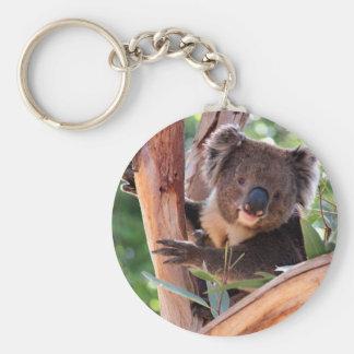 Victorian Koala Basic Round Button Key Ring