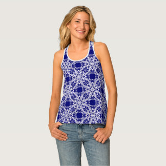Victorian lace pattern tank top