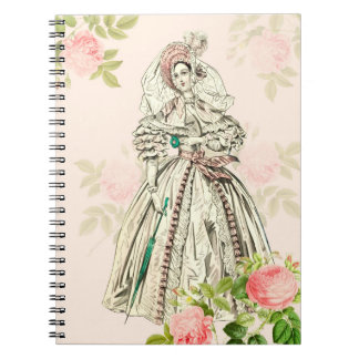 Victorian lady 19th century fashion notebook