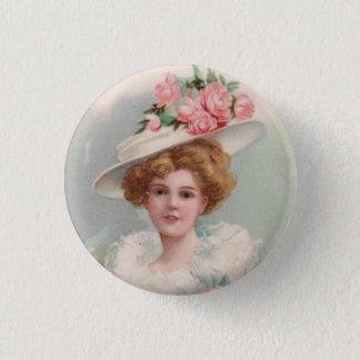 Victorian Lady 3 Cm Round Badge