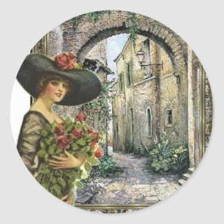 Victorian lady abroad stickers