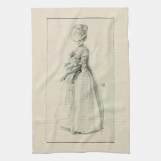 Victorian Lady Fashion Tea Towel