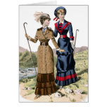 Victorian Lady Hikers Cards
