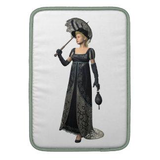 Victorian Lady in Black MacBook Sleeves