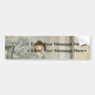 Victorian Lady – Vintage French Fashion–Gray Dress Bumper Stickers