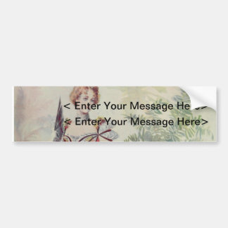 Victorian Lady – Vintage French Fashion–Pink Dress Bumper Stickers