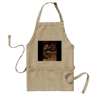 Victorian Lady Vintage Happy New Year Apron