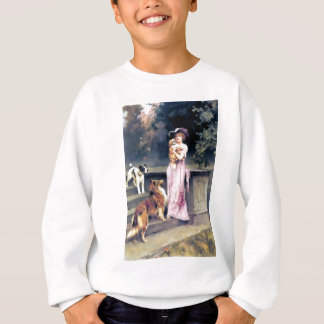 Victorian lady with dog pets sweatshirt
