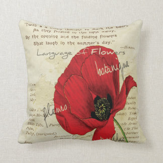 Victorian Language of Flowers Throw Pillow