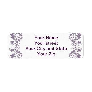 Victorian Lavender Frame Return Address Labels