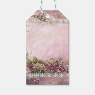 Victorian Lilacs w White Lace Frame lavender pink