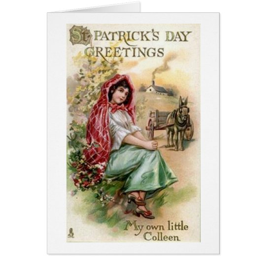 Victorian Little Colleen St. Patrick's Day Card