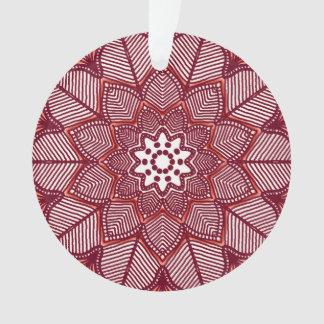 Victorian Magenta Mandala Ornament