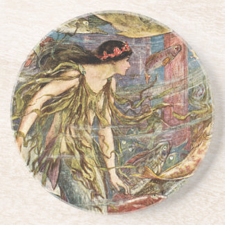 Victorian Mermaid Art by H J Ford Coaster