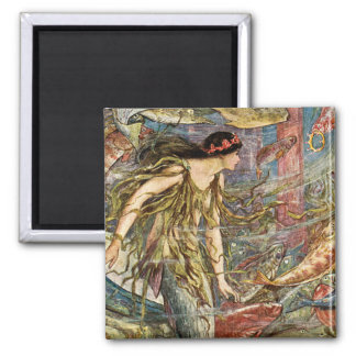 Victorian Mermaid Art by H J Ford Magnet