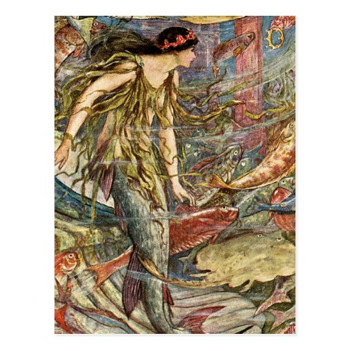 Victorian Mermaid Art by H J Ford Postcards