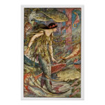 Victorian Mermaid Art by H J Ford Poster