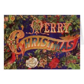 Victorian Merry Christmas Card