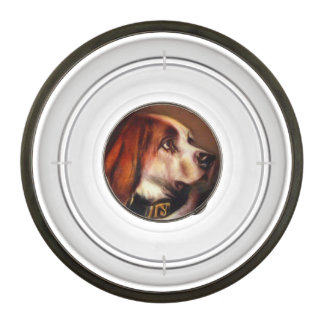 VICTORIAN MINIATURE DOG PORTRAITS / Bloodhound