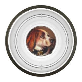 VICTORIAN MINIATURE DOG PORTRAITS / Bloodhound