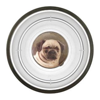 VICTORIAN MINIATURE DOG PORTRAITS / PUG PET BOWL