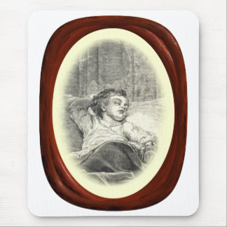 Victorian Mother Watching Over Child Mouse Pad