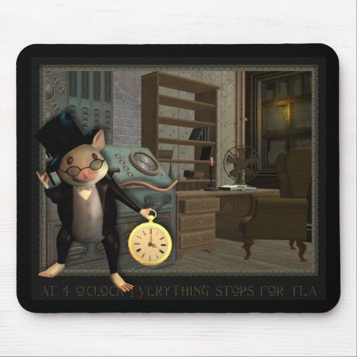 Victorian Mouse Mouse Pad