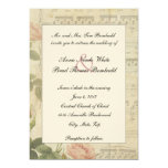 Victorian Music and Rose Wedding Invitation