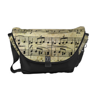 Victorian Music Sheet Wallpaper Messenger Bags