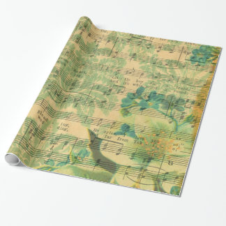 Victorian Music Sheet Wallpaper Wrapping Paper