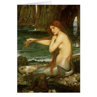 Victorian Mythology Art, Mermaid by JW Waterhouse Card