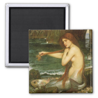 Victorian Mythology Art, Mermaid by JW Waterhouse Magnet