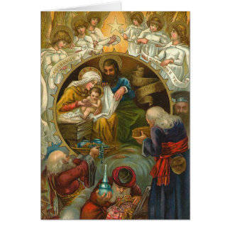 Victorian Nativity Christmas Card