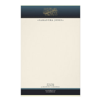 Victorian Ocean Blue Customized Stationery