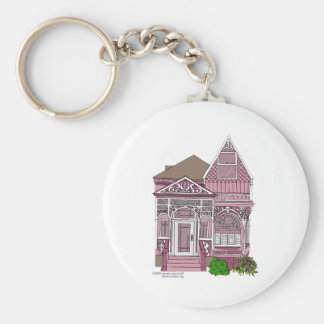 "Victorian ""Painted Lady"" - pink Key Ring"