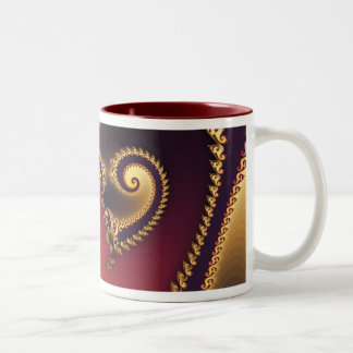Victorian Paisley Two-Tone Coffee Mug