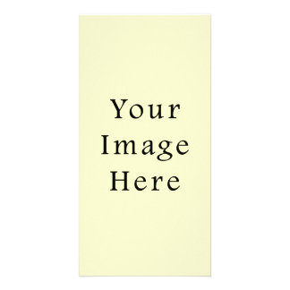 Victorian Pale Yellow Color Trend Blank Template Photo Greeting Card