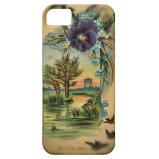 Victorian Pansy Pastoral Case For The iPhone 5