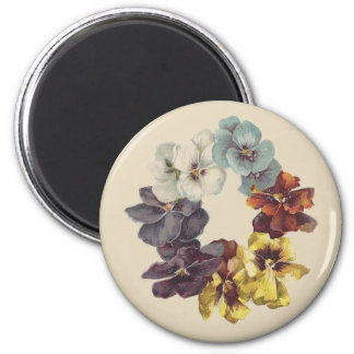 Victorian Pansy Ring Floral Magnet