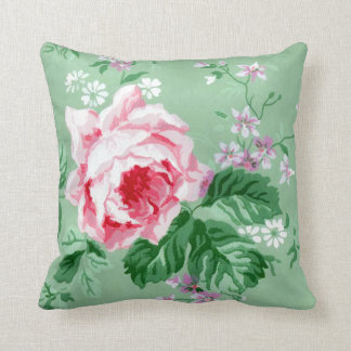 Victorian Pink Rose Cushions - Victorian Pink Rose Scatter Cushions Zazzle.co.uk