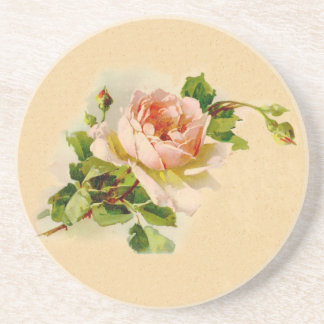Victorian Pink Rose Coaster