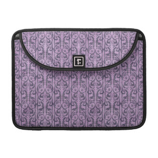 Victorian Purple Floral Sleeve For MacBooks